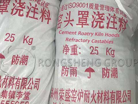 Cement Rotary Kiln Hoods Refractory Castables