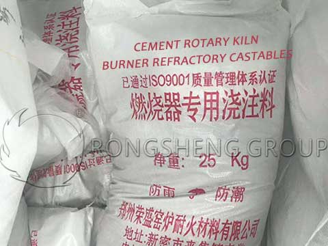 RS Cment Rotary Kiln Burner Refractory Castable for Sale