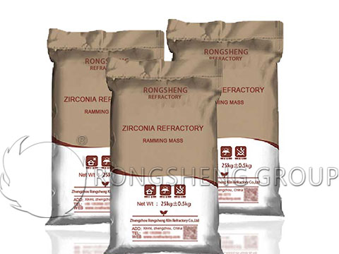 Rongsheng Zirconia Refractory Ramming Mass for Sale