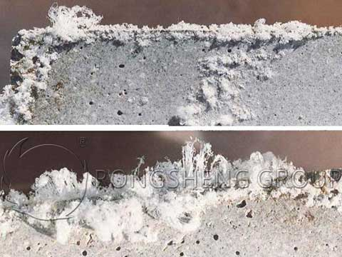 White-Hair and Chalking on the Surface of Refractory Castables and Preforms