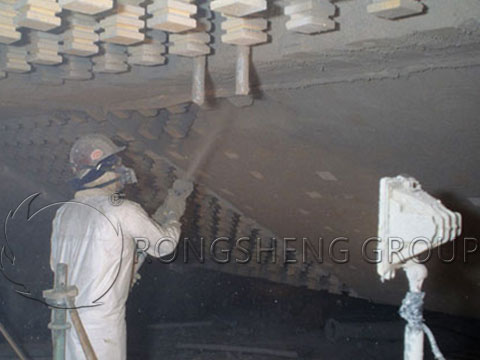 Construction of Insulating Castable Refractory Lining